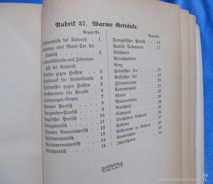 Libros antiguos: HILFSBUCH FÜR MENUS. ELSA FREIFRAU VON CNOBLOCH-REININGHAUS. VERLAG LEUSCHNER & LUBENSKY, GRAZ. 1914 - Foto 7 - 58681187