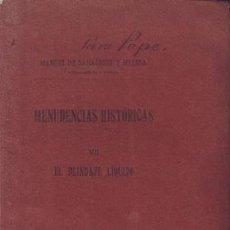 Libros antiguos: SARALEGUI Y MEDINA, MANUEL DE: MENUDENCIAS HISTORICAS VII EL BLINDAJE LIQUIDO. 1920. Lote 58700064