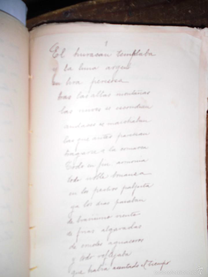 LBRO MANUSCRITO ANTIGUO TITULADA EL HURACAN TEMBLABA PAGINAS NUMERADAS 53 (Libros Antiguos, Raros y Curiosos - Ciencias, Manuales y Oficios - Otros)