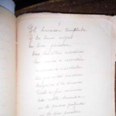 Libros antiguos: LBRO MANUSCRITO ANTIGUO TITULADA EL HURACAN TEMBLABA PAGINAS NUMERADAS 53. Lote 58767702