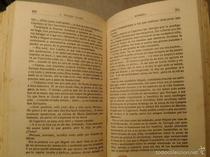 Libros antiguos: Riverita (1a parte) y Maximina (2a parte), libros obra de Palacio Valdés (1919) - Foto 3 - 58896221