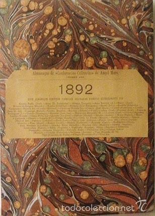 ANGEL MURO : ALMANAQUE DE CONFERENCIAS CULINARIAS 1892. (INCOMPLETO) (Libros Antiguos, Raros y Curiosos - Cocina y Gastronomía)
