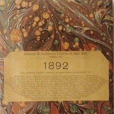 Libros antiguos: ANGEL MURO : ALMANAQUE DE CONFERENCIAS CULINARIAS 1892. (INCOMPLETO) . Lote 58963925