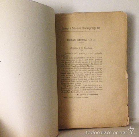 Libros antiguos: Angel Muro : Almanaque de conferencias culinarias 1892. (Incompleto) - Foto 2 - 58963925