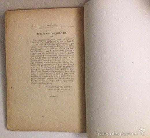 Libros antiguos: Angel Muro : Almanaque de conferencias culinarias 1892. (Incompleto) - Foto 4 - 58963925