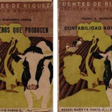 Alte Bücher - Lote de 2 libros Fuentes de riqueza Biblioteca agropecuaria 1933 Y 1934 - 59151785