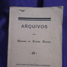 Alte Bücher - GALICIA. ARQUIVOS DO SEMINARIO DO ESTUDOS GALEGOS IV. NOS PUBLICACIONS GALEGAS E IMPRENTA. 1929 - 59222445