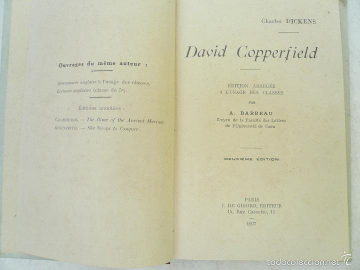 Libros antiguos: DAVID COPPERFIELD EDITION ABRÉGÉE Á LUSAGE DES CLASSES PAR A. BARBEAU - Foto 3 - 59431295