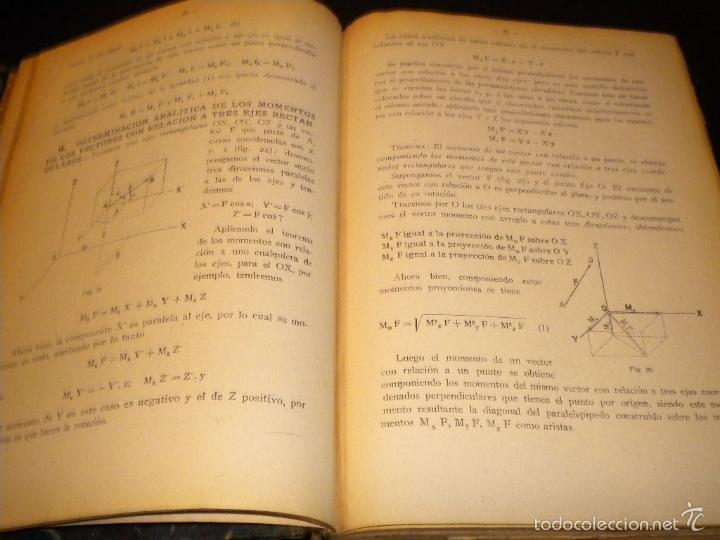 Libros antiguos: tratado de mecanica general I y II / joaquin del soto hidalgo / 1931 / primera edicion - Foto 5 - 59442185