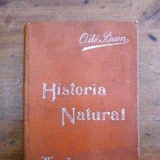 Libros antiguos: BUEN, ODÓN DE. HISTORIA NATURAL : (NOCIONES PRELIMINARES). (MANUALES SOLER ; 2). Lote 59504395