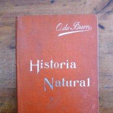 Libros antiguos: BUEN, ODÓN DE. HISTORIA NATURAL : (NOCIONES PRELIMINARES). (MANUALES SOLER ; 2). Lote 59504539