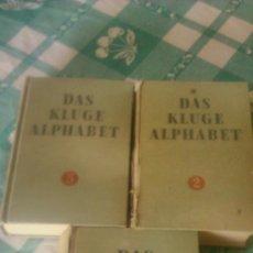 Libros antiguos: DAS KLUGE ALPHABET 1934/1935,TOMOS 2,5, Y 7 ,ALEMAN . Lote 59692927
