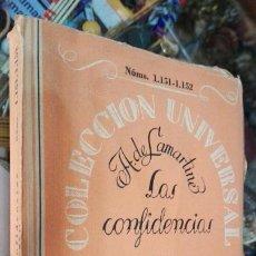 Libros antiguos: LAS CONFIDENCIAS ESPASA CALPE MADRID 1930. Lote 59701027