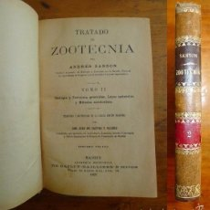 Libros antiguos: SANSON, ANDRÉS. TRATADO DE ZOOTECNIA. TOMO II : ZOOLOGÍA Y ZOOTECNIA GENERALES ; LEYES GENERALES.... Lote 59808716