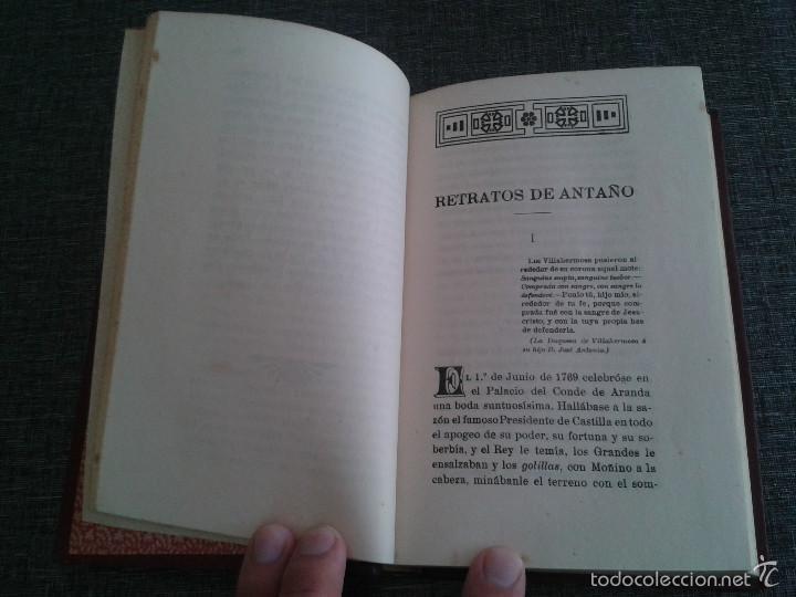 Libros antiguos: RETRATOS DE ANTAÑO, 2 TOMOS, LIBRO OBRA DE P. LUIS COLOMA (1914) - Foto 5 - 59861528