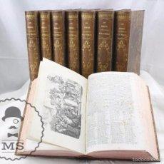 Libros antiguos: 8 TOMOS / LIBROS ILUSTRADOS - LOS HÉROES Y GRANDEZAS DE LA TIERRA. M. ORTIZ DE LA VEGA - AÑO 1854. Lote 59961043