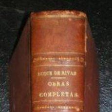 Libros antiguos: SAAVEDRA, ANGEL DE (DUQUE DE RIVAS): OBRAS COMPLETAS, DIBUJOS DE APELES MESTRES Y J.LUIS PELLICER. Lote 59970759