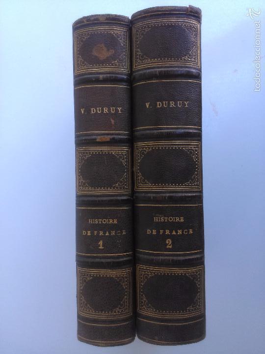 HISTOIRE DE FRANCE. V. DURUY (2 TOMOS) (Libros Antiguos, Raros y Curiosos - Historia - Otros)