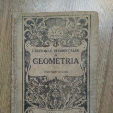 Libros antiguos: LECCIONES ELEMENTALES DE GEOMETRÍA. SEGUNDO GRADO. BRUÑO. Lote 60193402