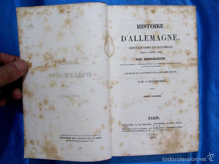 Libros antiguos: HISTOIRE D ALLEMAGNE. PAR KOHLRAUSCH. TRAD. A. GUINEFOLLE. PARIS, 1840, 1838. HISTORIA DE ALEMANIA. - Foto 5 - 60277983