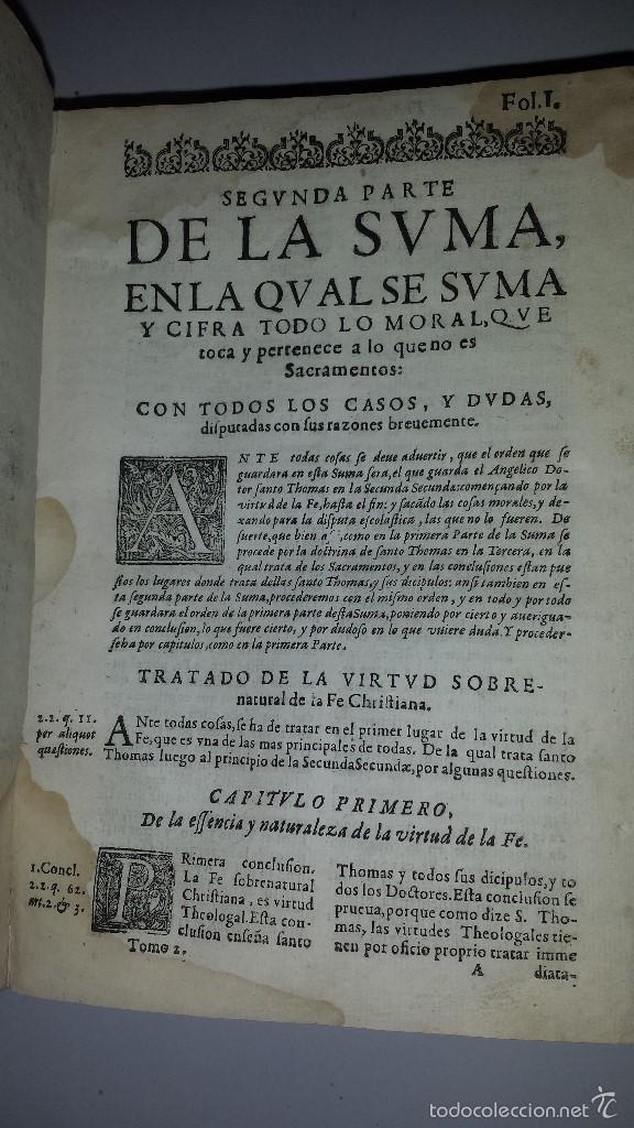 Libros antiguos: SEGVNDA PARTE DE LA SVMMA LA CVUAL SE SVMMA TODO LO MORAL Y CASOS -1620 - Foto 5 - 60285455