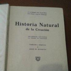 Libros antiguos: HISTORIA NATURAL - JOSE Mª BORRAS - ANIMALES Y PLANTAS. Lote 60288507