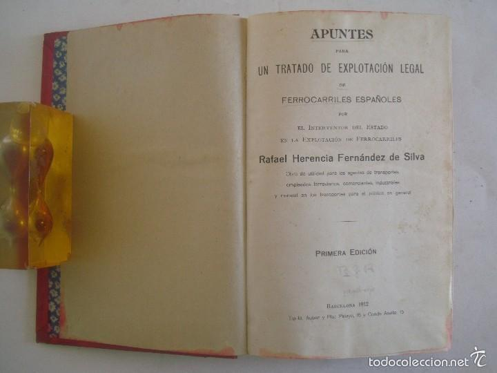 APUNTES PARA UN TRATADO DE EXPLOTACIÓN DE FERROCARRILES ESPAÑOLES.1912.1A EDICIÓN (Libros Antiguos, Raros y Curiosos - Ciencias, Manuales y Oficios - Otros)