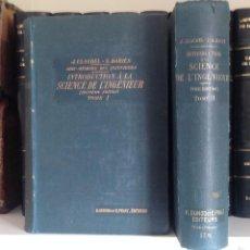 Libros antiguos: INTRODUCTION SCIENCE DE L'INGENIEUR. CLAUDEL J. 1913. 2 TOMOS. OBRA COMPLETA. Lote 60372759