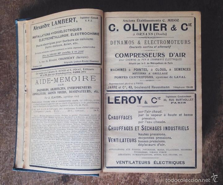 Libros antiguos: INTRODUCTION SCIENCE DE LINGENIEUR. CLAUDEL J. 1913. 2 TOMOS. OBRA COMPLETA - Foto 4 - 60372759
