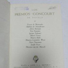 Libri antichi: LOS PREMIOS GONCOURT DE NOVELA. VOL I. EDITORES PLAZA & JANES. 1964.. Lote 60401379