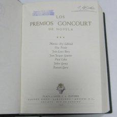 Livres anciens: LOS PREMIOS GONCOURT DE NOVELA. VOL III. EDITORES PLAZA & JANES. 1965.. Lote 60402331