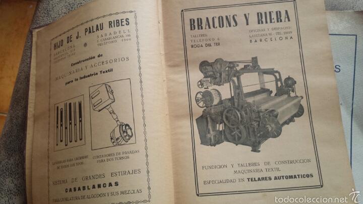 Libros antiguos: APUNTES DE TEORIA DE TEJIDOS . JERÓNIMO OLLER Y ESTEPA+ TEÓRICO PRÀCTICO DE TEJIDOS . FCO.SALADRIGAS - Foto 2 - 60414889