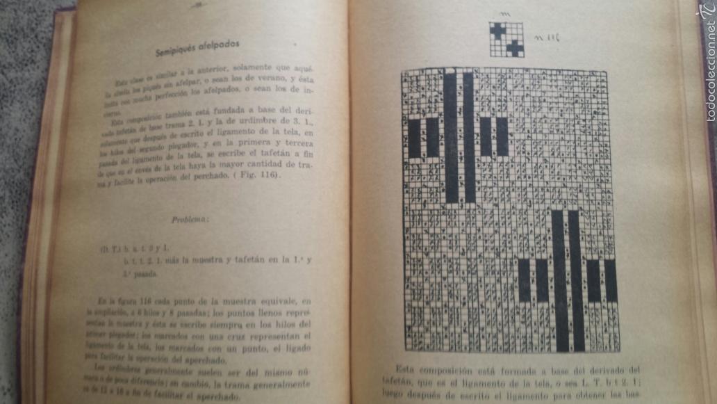 Libros antiguos: APUNTES DE TEORIA DE TEJIDOS . JERÓNIMO OLLER Y ESTEPA+ TEÓRICO PRÀCTICO DE TEJIDOS . FCO.SALADRIGAS - Foto 5 - 60414889