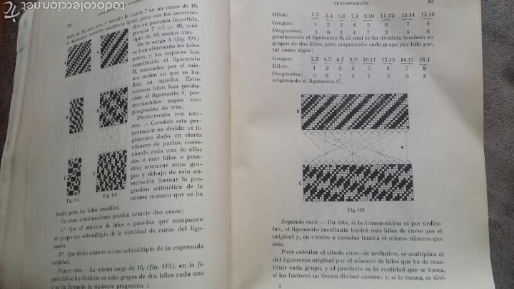 Libros antiguos: APUNTES DE TEORIA DE TEJIDOS . JERÓNIMO OLLER Y ESTEPA+ TEÓRICO PRÀCTICO DE TEJIDOS . FCO.SALADRIGAS - Foto 9 - 60414889