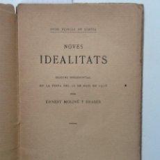 Libros antiguos: NOVES IDEALITATS. 1916 ERNEST MOLINE Y BRASES JOCS FLORALS DE LLEYDA. Lote 60416995