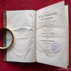 Libros antiguos: RARO. TEORIA BIBLICA DE LA COSMOGONÍA Y LA GEOLOGÍA. DEBREYNE. PEDRO PARCET. 1854. IM. PABLO RIERA.. Lote 60443811