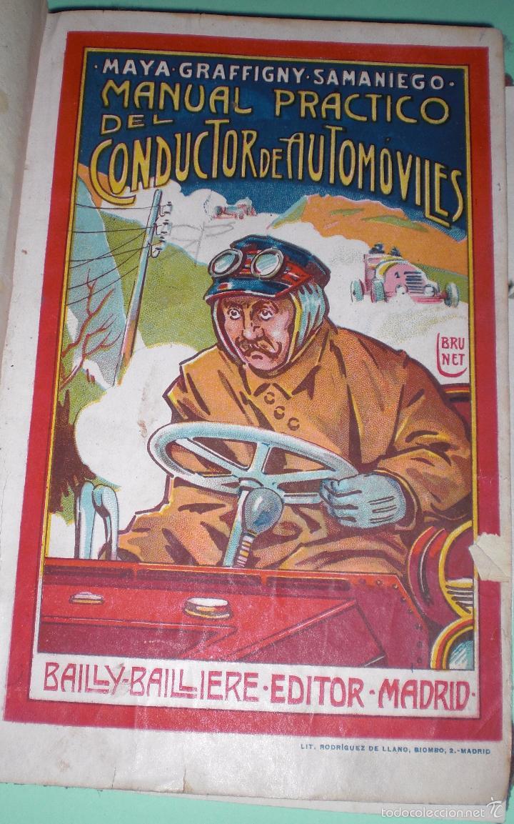 MAGNIFICO Y RARO MANUAL DEL CONDUCTOR DE AUTOMOVILES 1920 (Libros Antiguos, Raros y Curiosos - Ciencias, Manuales y Oficios - Otros)