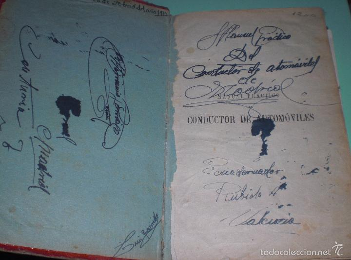 Libros antiguos: Magnifico y raro manual del conductor de Automoviles 1920 - Foto 17 - 60874179