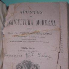 Libros antiguos: APUNTES DE AGRICULTURA MODERNA VALENCIA 1921. Lote 60880383