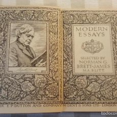 Libros antiguos: MODERN ESSAYS (ENSAYOS MODERNOS), MISCELANEA DE ENSAYOS, 1924, INGLATERRA, MUY INTERESANTE.. Lote 60840883