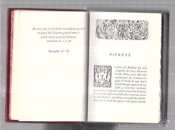 Libros antiguos: MONTANER Y SIMON. CUENTOS DE BOZ. DICKENS. SERIE LIMITADA. GRAN PAPEL. EXCEPCIONAL. AÑOS 40 - Foto 2 - 60982239