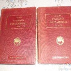 Libros antiguos: FILOSOFIA FUNDAMENTAL BALMES TOMO I Y III. Lote 60999599