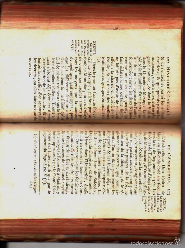 Libros antiguos: TOURON : HISTOIRE GENÈRALE DE L'AMERIQUE DEPUIS SA DÉCOUVERTE TOME VI (1769) MÉXICO - Foto 4 - 61062175