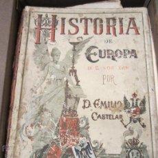 Libros antiguos: HISTORIA DE EUROPA EN EL SIGLO XVIII CASTELAR. Lote 61067275