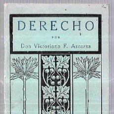 Libros antiguos: NOCIONES DE DERECHO. POR VICTORIANIO. TIRADA 27. EDIT. MAGIESTERIO ESPAÑOL. 31 PAGS 17,9X11,8. Lote 61233707
