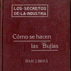 Libros antiguos: ISAAC BROCÁ : CÓMO SE HACEN LAS BUJÍAS (FELIU Y SUSANNA, 1911) ESTEÁRICAS, PALMÍTICAS, ETC.. Lote 61270543