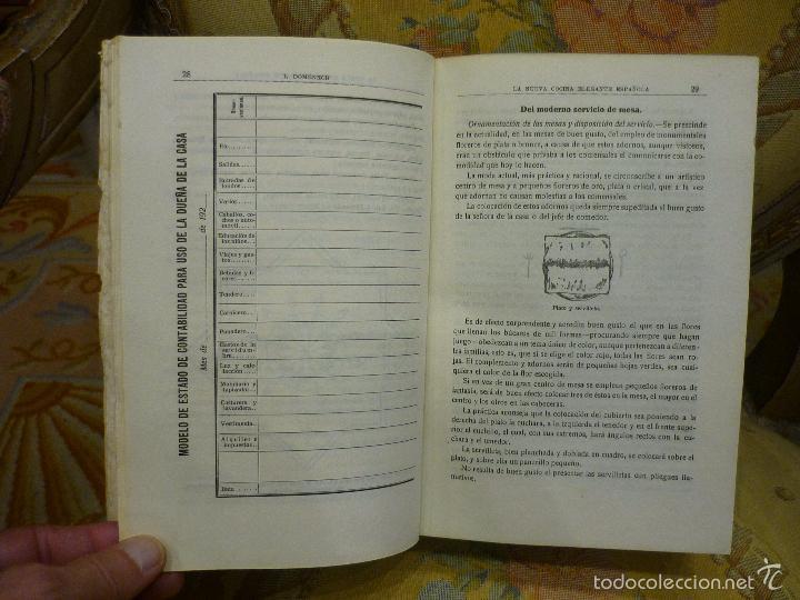 Libros antiguos: LA NUEVA COCINA ELEGANTE ESPAÑOLA, DE IGNACIO DOMÉNECH. IMPRENTA HELÉNICA 2ª EDICIÓN. - Foto 13 - 61287651