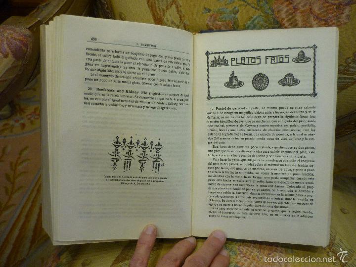 Libros antiguos: LA NUEVA COCINA ELEGANTE ESPAÑOLA, DE IGNACIO DOMÉNECH. IMPRENTA HELÉNICA 2ª EDICIÓN. - Foto 21 - 61287651