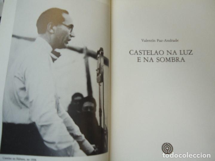 Libros antiguos: Valentín Paz-Andrade. Castelao na luz e na sombra. A Coruña, 1982. ilustrado - Foto 3 - 75238013