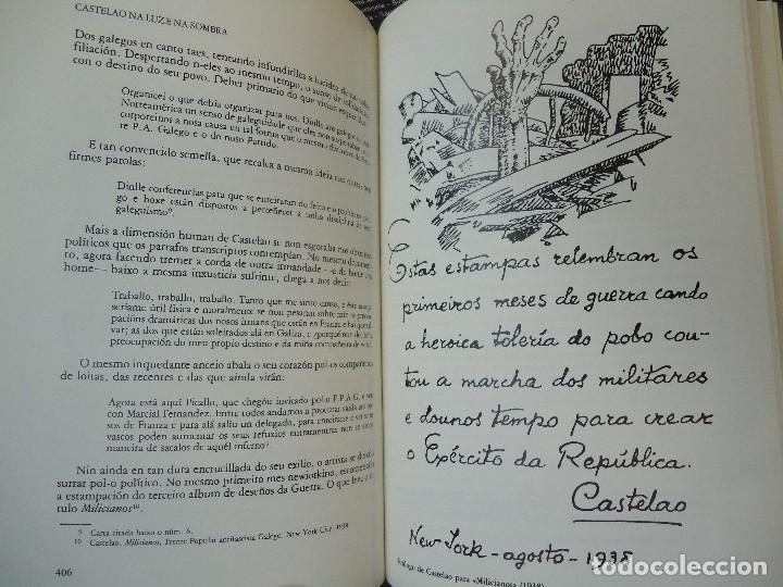 Libros antiguos: Valentín Paz-Andrade. Castelao na luz e na sombra. A Coruña, 1982. ilustrado - Foto 6 - 75238013